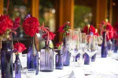Modern purple and red wedding