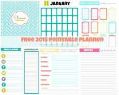 weekly agenda template 2015