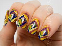 manicurator: Inspired by Kandinsky Colour Studies Nail Art with Born Pretty - Digit-al Dozen Art Week
