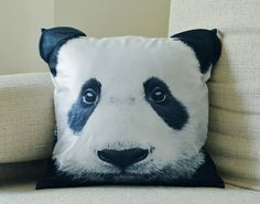 Pillow cover, Panda cushion cover, Panda pillow cover, pet cushion cover, animal collective, Panda, CU-123 by BENWINEWIN on Etsy https://www.etsy.com/listing/167428594/pillow-cover-panda-cushion-cover-panda