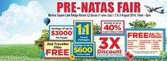 Visit Dynasty's Pre-NATAS Travel Fair happening this weekend at:  Location:  Marina Square Link Bridge Atrium L2 (Beside O'Coffee Club)  Date:  2nd & 3rd Aug'04 Time:  10am to 8pm  Best Quality Holidays at the Lowest Price Guaranteed!*