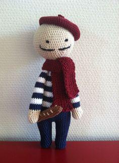 French guy mod made by Hanneke W. / based on a lalylala crochet pattern