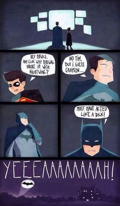 Lol if only batman were as dramatic as Horatio