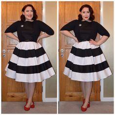 Black & White Anna dress by Dolly & Dotty, old Primark shrug, Ali Express brooch, eBay belt, old F&F flats