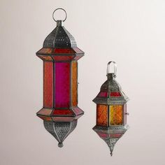 Warm Multicolor Hanging Lantern | World Market
