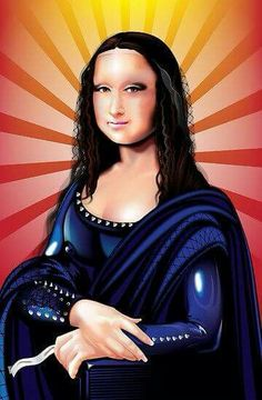 This landscape made Mona Lisa want to smile! Mona Lisa by Brian Gibbs Mona Lisa Smile, Lisa Gherardini, La Madone, Mona Lisa Parody, Famous Artwork, Italian Artist, Mother Mary, Her Smile, Art History