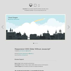 Responsive #CSS3 Slider Without #Javascript