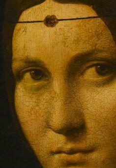 Portrait of an Unknown Woman (detail), ca/ 1490, attributed to Leonardo da Vinci