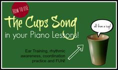 """Singing students at my studio were going crazy for """"The Cups Song"""" by Anna Kendrick for several months. And I can see why – it's a total bl. Piano Lessons, Music Lessons, Music Education Activities, Cup Song, Music Lesson Plans, Piano Teaching, Elementary Music, Music For Kids, Music Classroom"""