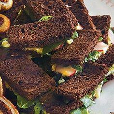 Pumpernickel Tea Sandwiches Recipe | MyRecipes.com