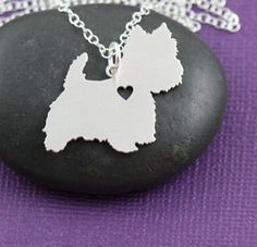 A West Highland White Terrier Has My Heart Necklace