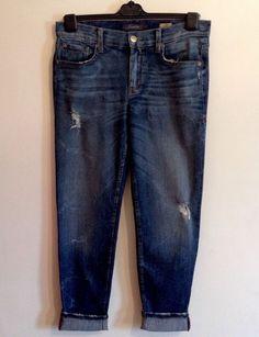 LEVEL 99 CASEY TOMBOY Women Jeans Distressed Denim Pant Casual Boyfriend Size 27 #Level99 #TOMBOY