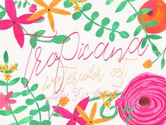 Posted by @newkoko2020 Tropicana Watercolor Set by wanderwithwolves on @creativemarket