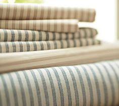 Vintage Ticking Stripe Sheet Set #potterybarn