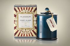 Glasshouse Fragrances Coney Island Limited EditionCandle - The Dieline -