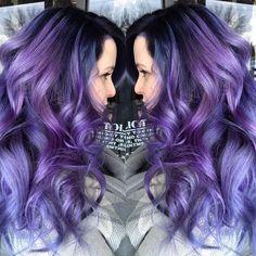 Purple Dream  color melt by Brittnie Garcia purple hair purple color melt hotonbeauty.com