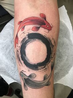 Enso tattoo for man
