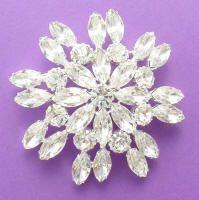 Swarovski Crystal Rhinestone  Flower Brooch