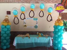 Baby shower ideas, globos con helio playa del carmen, decoración con globos Riviera Maya, baby shower balloons decorations, decoraciones para baby shower www.tuttiparty.mx