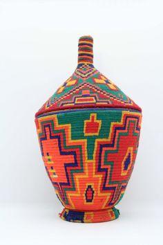 SALE Vintage Moroccan Tribal Basket 20OFF by popmaroc on Etsy, $102.00