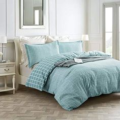 The 8 Best Bedding Sets for guys [June 2020] - Famrhouse Bedding Set Farmhouse Bedding Sets, Best Bedding Sets, Ticking Stripe, Bed Styling, Cool Beds, Modern Country, Pick One, Bed Spreads