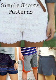 7 Simple Shorts Patterns on EverythingEtsy.com - Free DIY Tutorials for Summer!