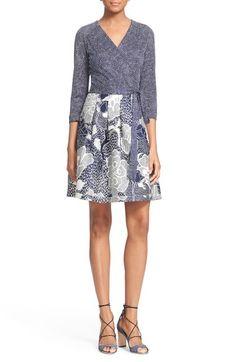 Diane von Furstenberg 'Jewel' Print Wool & Silk Fit & Flare Dress available at #Nordstrom
