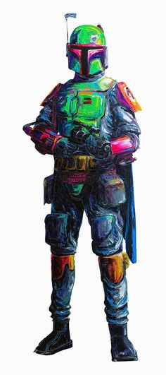 Boba+Fett+by+Brent+Estabrook.jpg 700×1,575 pixels