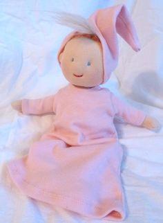 Newborn Baby Doll Soft Cloth Handmade Waldorf Inspired by HaloToys, $31.49