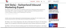 Arti Qelaj – Switzerland Inbound Marketing Expert Telemundo Lubbock - Press release submission Marketing Automation, Inbound Marketing, Email Marketing, Sephora App, Beauty Companies, Interesting Topics, Content Marketing Strategy, Press Release