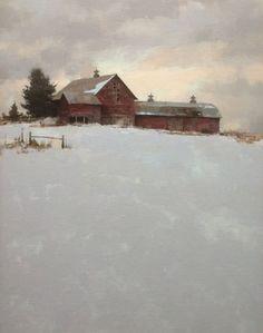 mark boedges paintings   mark boedges a still winter day 24 x 18 $