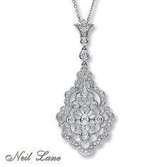 diamond pendant by neil lane Diamond Gemstone, Diamond Pendant, Wedding Jewelry, Wedding Rings, Kay Jewelers, Neil Lane, Jewelry Stores, Jewelery, White Gold