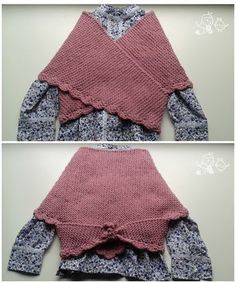 PATRÓN PARA TEJER UNA TOQUILLA DE NESKA. Basic knitting shawl pattern in spanish.