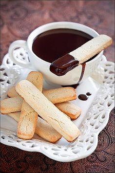 Serve dipping chocolate in a tea cup for tea party.