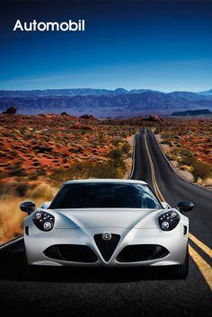 Alfa Romeo •    Der neue Alfa Romeo 4C – eine Revolution im Sportwagenbau.    Der neue Alfa Romeo 4C verkörpert mit Heckantrieb und Mittelmotor die unverfälschte DNA eines Sportwagens der Mailänder Traditionsmarke: Performance, italienisches Stilempfinden und hohe technische Kompetenz bieten maximales Fahrvergnügen bei zugleich höchster Sicherheit. Das im hauseigenen Centro Stile Alfa Romeo gezeichnete Coupé wird im Maserati-Werk...    Bilderserie anzeigen…