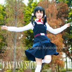 Tamako cosplay, the shop also sells the wig and hair accessories.