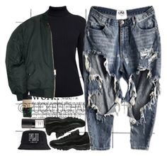 """""""Blasé."""" by fuckedchanel ❤ liked on Polyvore featuring HUF, Rumour London, Eight & Bob and NIKE"""