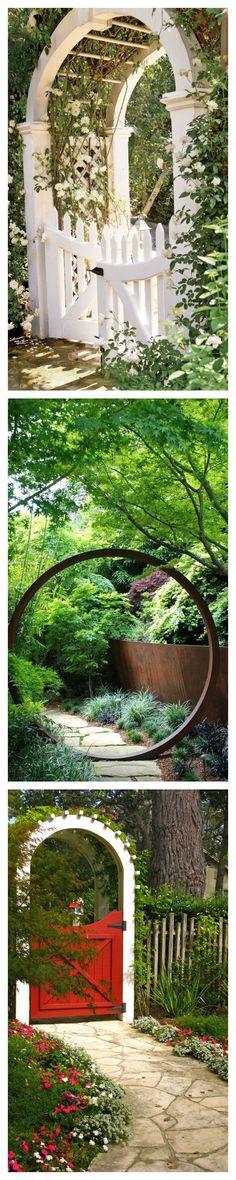 Amazing Garden Doors #landscaping                                                                                                                                                                                 More