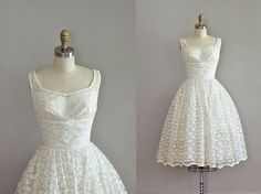 if i had it to do over again (and could fit into a small) ...  vintage 1950s white lace and tulle wedding dress