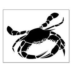 black & white crab print