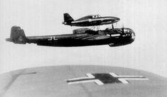 Messerschmitt Me 328 jet fighter and Dornier Do-217 - Mistel bomber