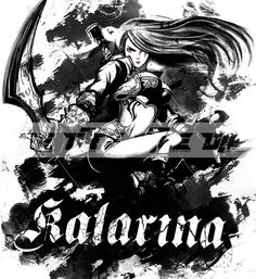 LOL T shirts League of legends Character Katarina, cotton t shirt | Buytra.com