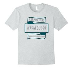 Mens Happiness Is Warm Queso And Perfectly Salted Chips T-Shirt 2XL Heather Grey