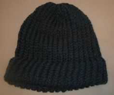 """Adult stocking cap has a 9"""" diameter, and 8 to 8 1/2"""" from top to bottom.  Features a 2 1/2"""" brim. These stocking cap(s) are all hand knitted. Beanie hats are handmade out of 2 strands of #4 medium, 100% Acrylic yarn.  Shipping is $3.00.  Additional hats have an additional shipping charge of 50 cents. 