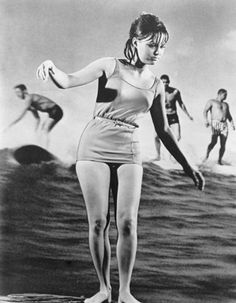 Sally Fields in her role as boy-crazy surfer Gidget in the 1960s television series