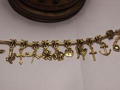 Gold Dangle Butterfly Cross Bee Bead Fit European Charm Bracelet Buy5=FreeShip #PandoraStyleBead #European