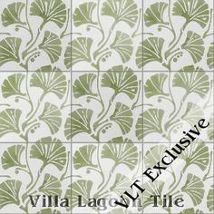 """""""Mossy Fan Vine"""" Cement Tile, from Villa Lagoon Tile"""