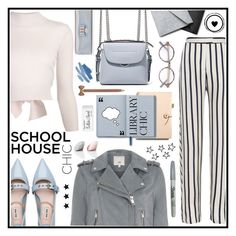"""#schoolhousechic"" by kayemjay ❤ liked on Polyvore featuring Nicholas, Fendi, Miu Miu, Alexander McQueen, Cutler and Gross, Coach, Ted Baker, Kate Spade, John Lewis and Paper Mate"