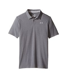 Under Armour Kids Charged Cotton Heather Polo (Big Kids)