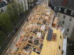 Mise en place de la toiture milieu 2013